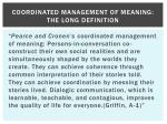coordinated management of meaning the long definition