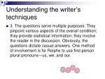 understanding the writer s techniques