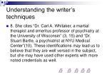 understanding the writer s techniques5