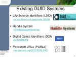 existing guid systems