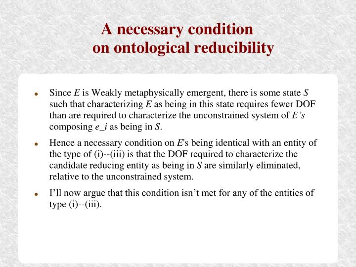 A necessary condition