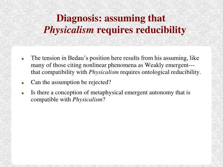 Diagnosis: assuming that