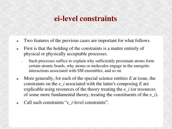 ei-level constraints