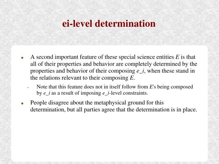 ei-level determination