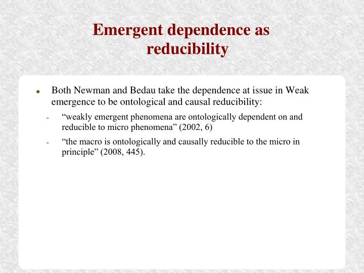 Emergent dependence as