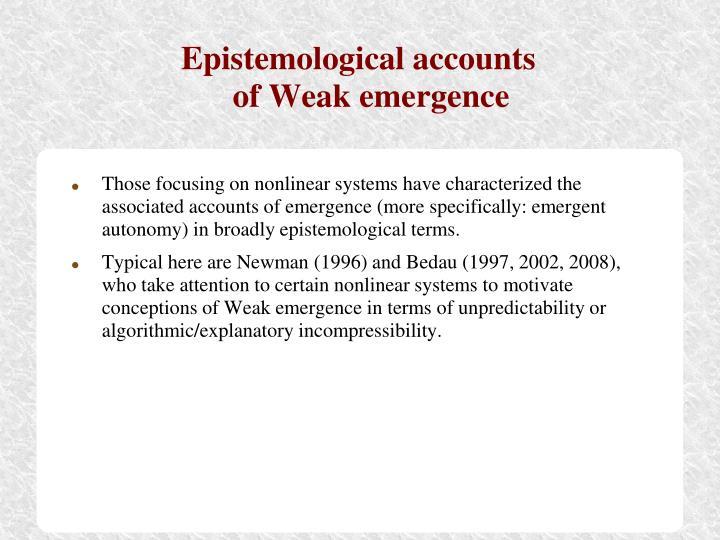 Epistemological accounts