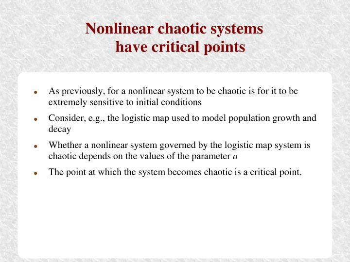 Nonlinear chaotic systems