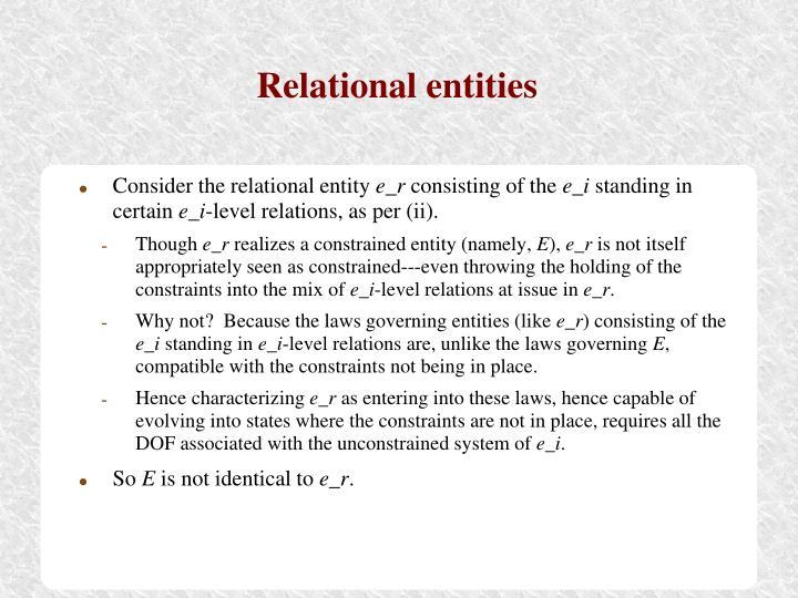 Relational entities