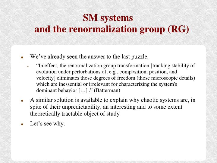 SM systems