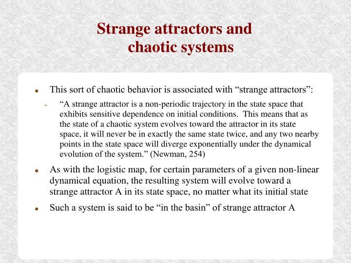Strange attractors and