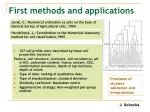 first methods and applications