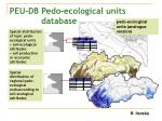 peu db pedo ecological units database