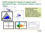 sscri strategy for creation of regional pedo geochemical maps multivariate analyses fuzzy k means
