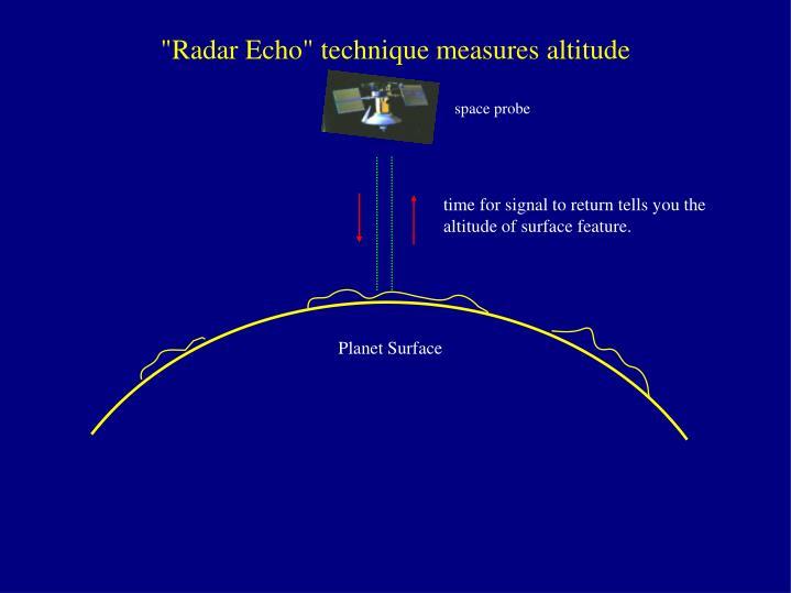 """""""Radar Echo"""" technique measures altitude"""