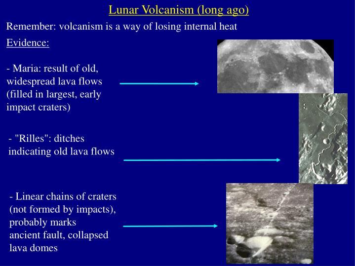 Lunar Volcanism (long ago)