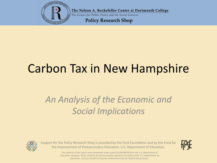carbon tax in new hampshire n.