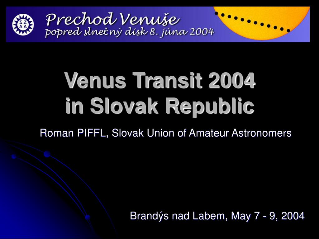 venus transit 2004 in slovak republic l.
