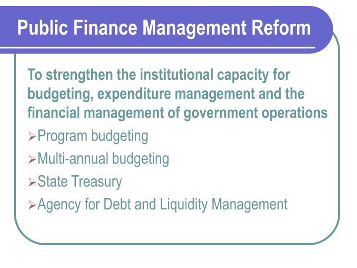 Public finance management reform