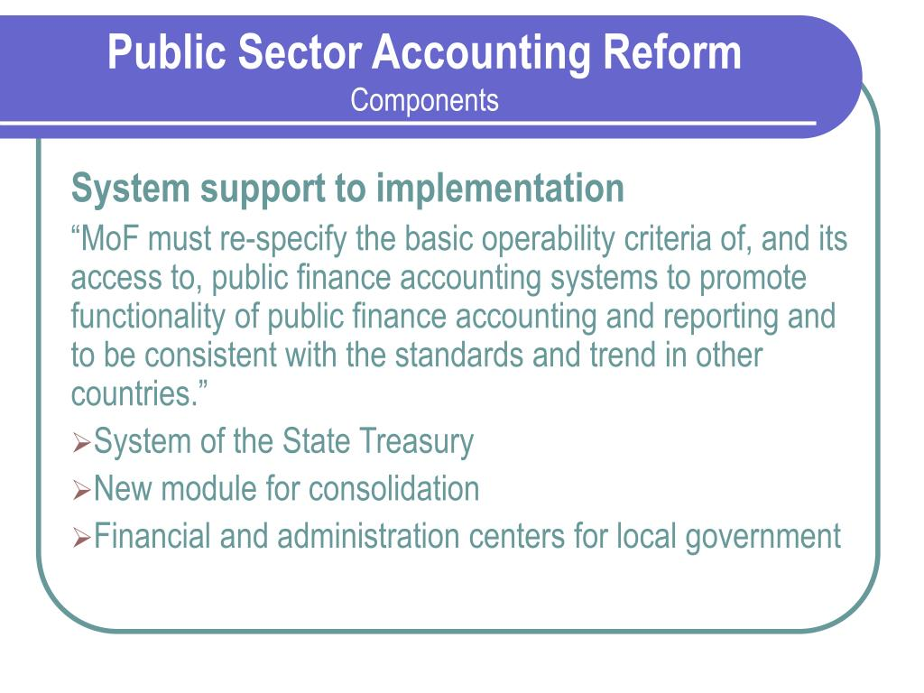 Public Sector Accounting Reform