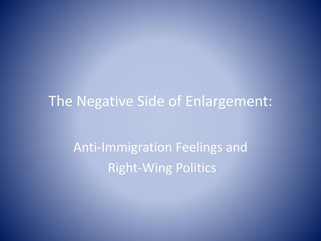 The Negative Side of Enlargement: