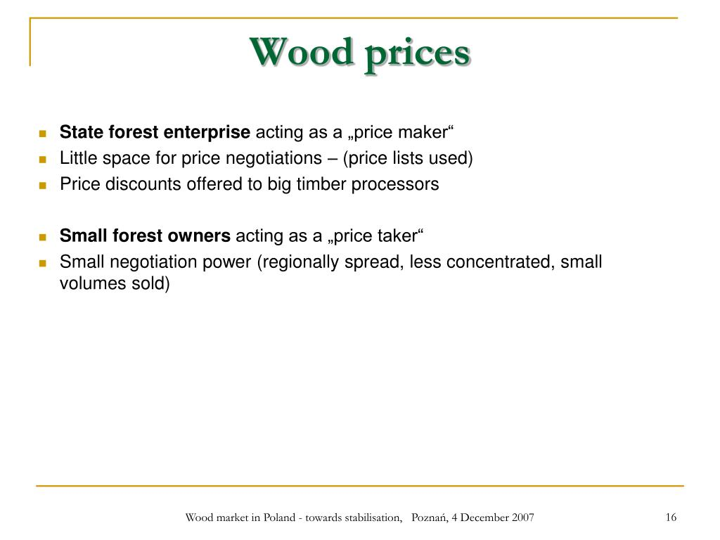 Wood prices