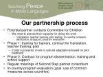 our partnership process
