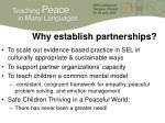 why establish partnerships