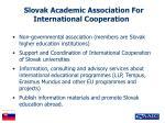 slovak academic association for international cooperation