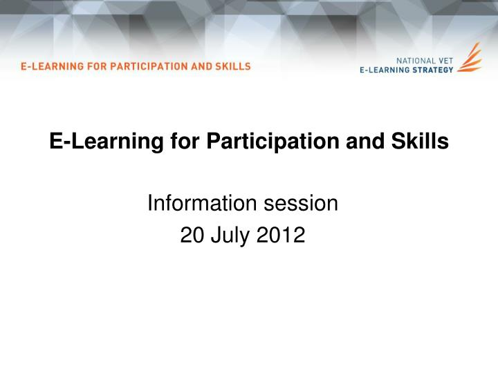 e learning for participation and skills n.