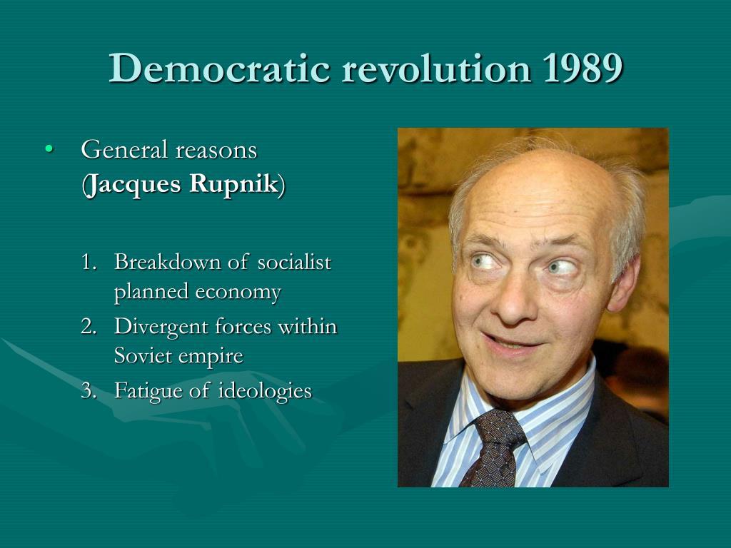 Democratic revolution 1989