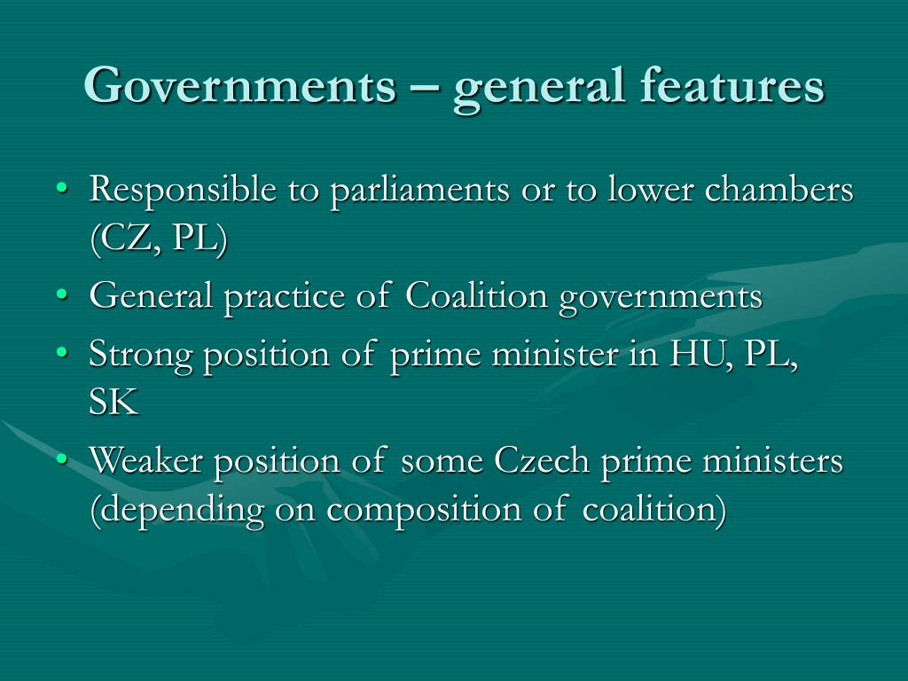 Governments – general features