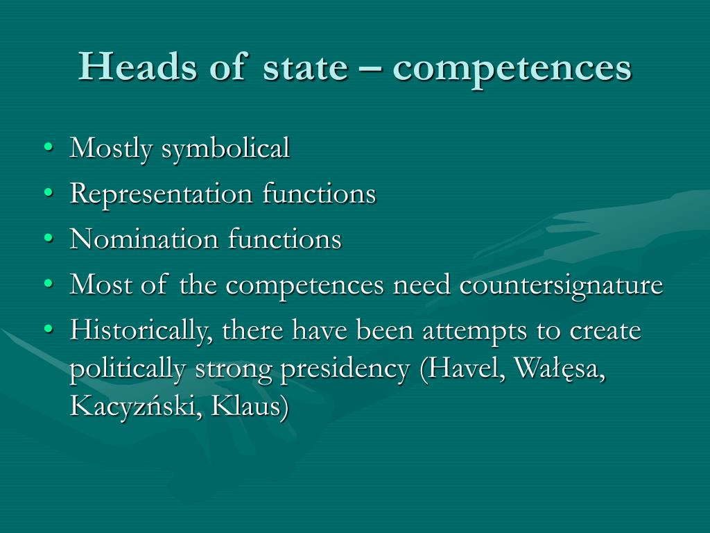 Heads of state – competences