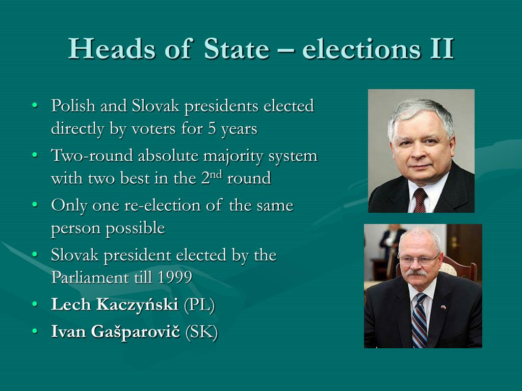 Heads of State – elections II