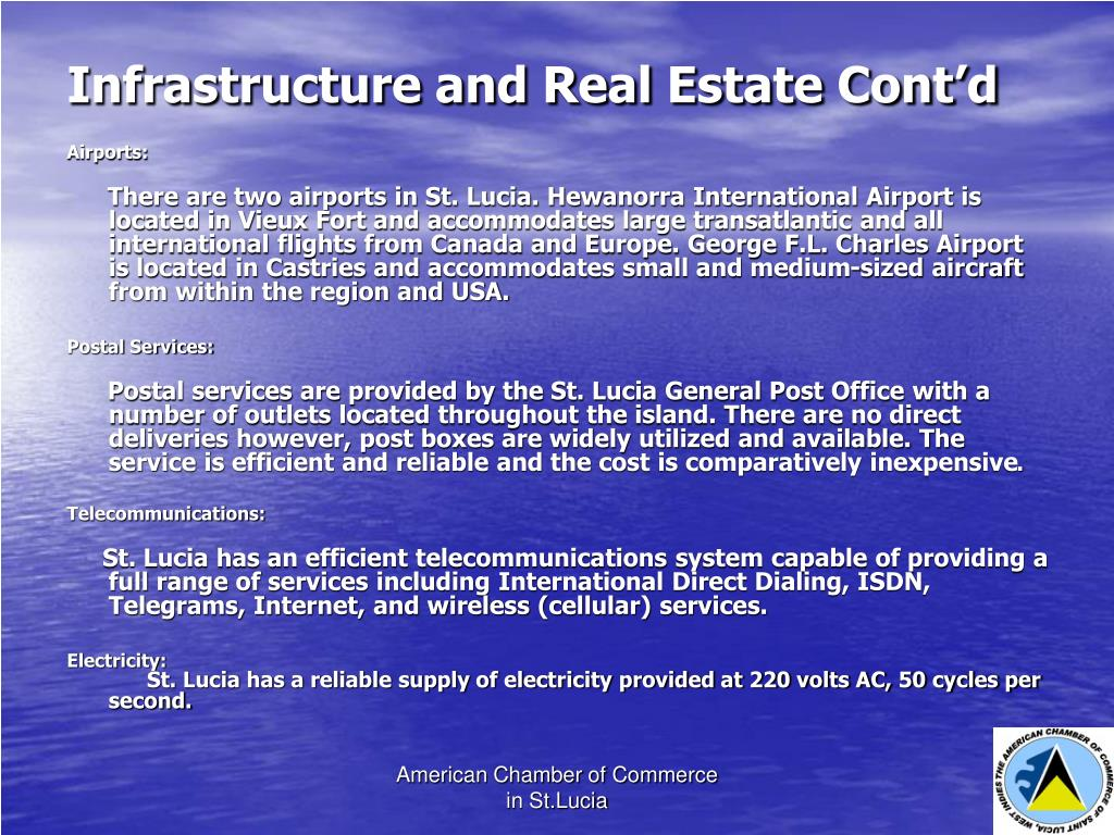 Infrastructure and Real Estate Cont'd