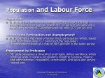 population and labour force