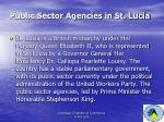 public sector agencies in st lucia