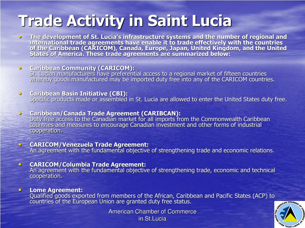 Trade Activity in Saint Lucia