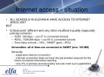 internet access situation