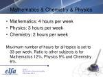 mathematics chemistry physics