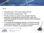 national program of training and education digital curriculum19