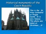 historical monuments of the czech republic