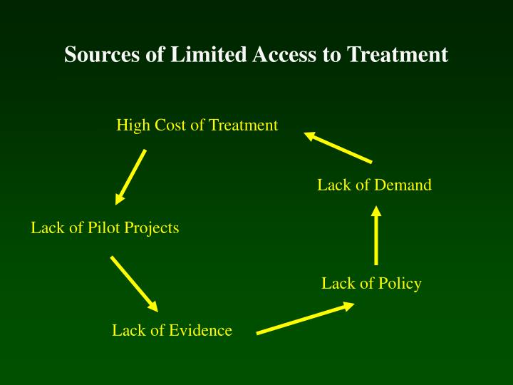 sources of limited access to treatment n.