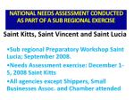 national needs assessment conducted as part of a sub regional exercise