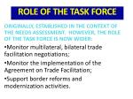 role of the task force