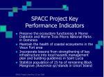 spacc project key performance indicators
