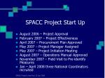 spacc project start up