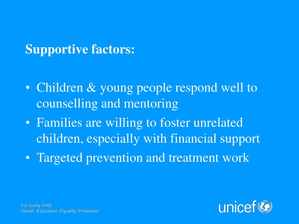 Supportive factors: