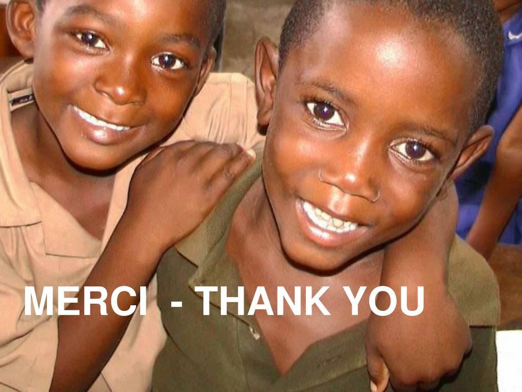 MERCI  - THANK YOU