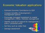 economic valuation applications