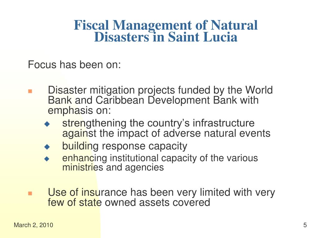 Fiscal Management of Natural Disasters in Saint Lucia